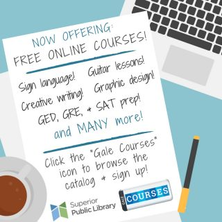 Now offering free online courses! : Superior Public Library